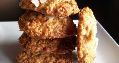 galletas de avena y almendras