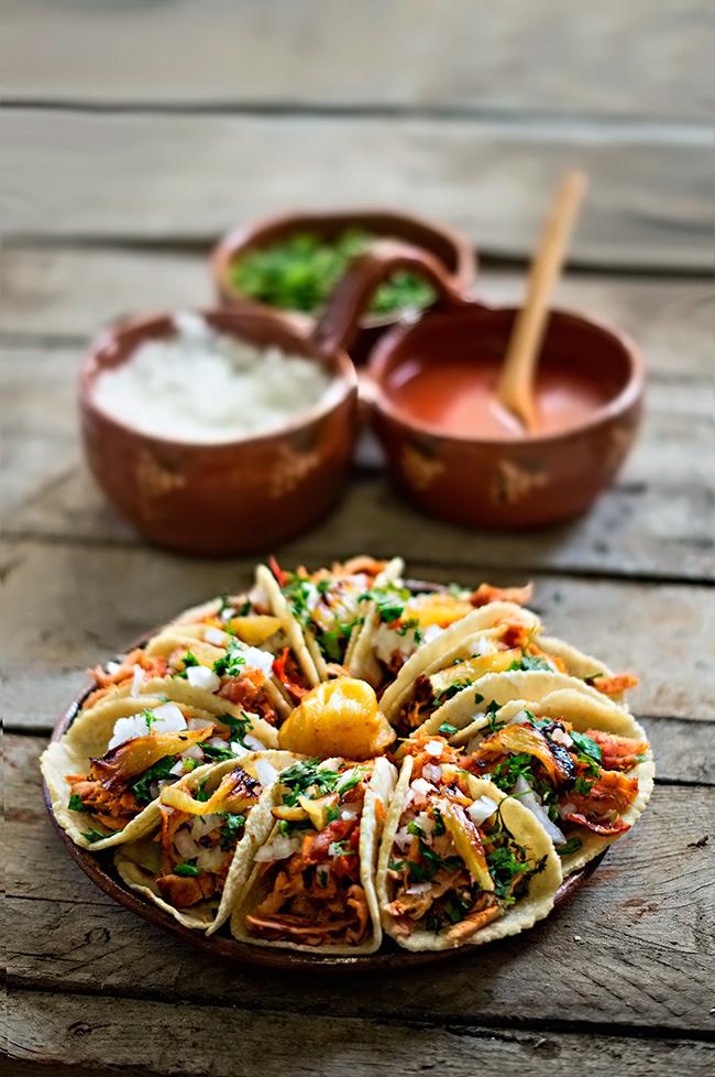 acompañantes para los tacos mexicanos