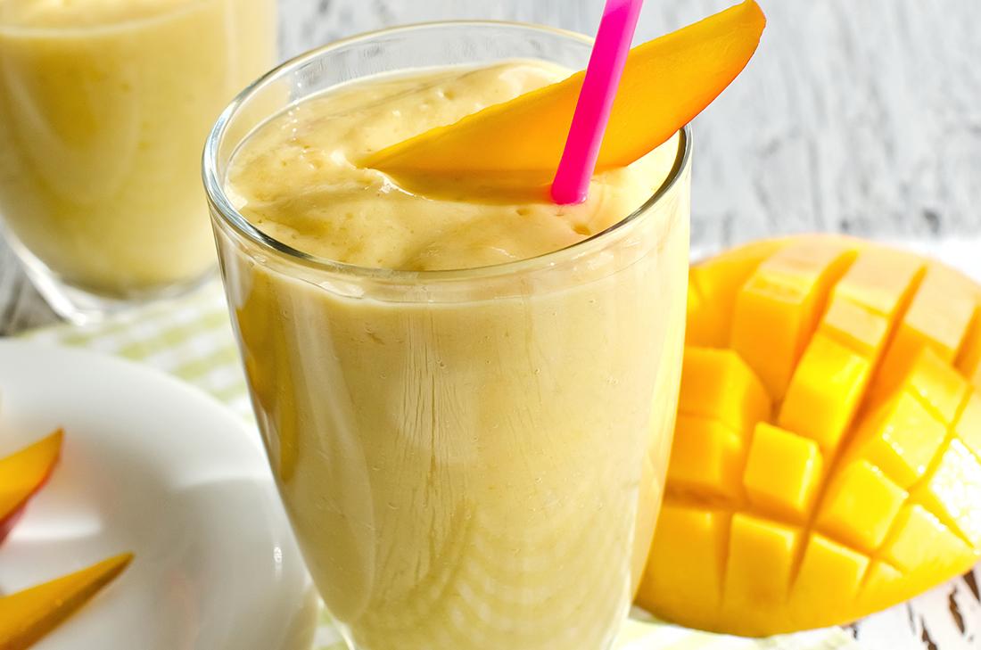 Como preparar Licuado de mango y yogur