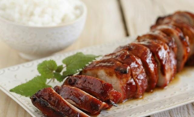lomo de cerdo al estilo chino