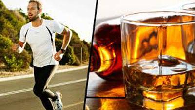 alcohol luego de entrenar