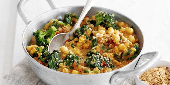 Comida vegana equilibrada en nutrientes