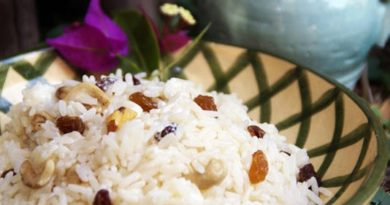 arroz con maní y pasas