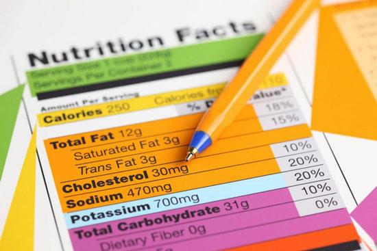 etiqueta de valor nutricional